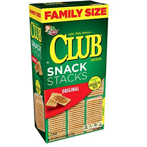 Keebler Club Crackers, Snack Stacks, Original, Grab 'N' Go, Family Size, 18.8 oz box(Pack of 12)