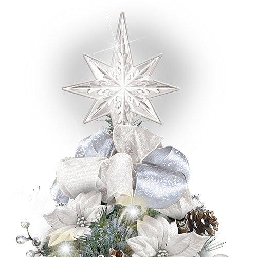 Thomas Kinkade The Bradford Exchange Winter Splendour Always In Bloom/® Tabletop Tree In Porcelain-Finished Display