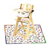 Keekaroo Height Right High Chair with Infant Insert, Tray and Mat (Vanilla)
