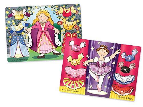 Mix Match Peg Puzzle - Melissa & Doug Mix 'n Match Dress-Up Wooden Peg Puzzles Set - Princess and Ballerina