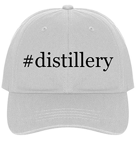The Town Butler #Distillery - A Nice Comfortable Adjustable Hashtag Dad Hat Cap, White