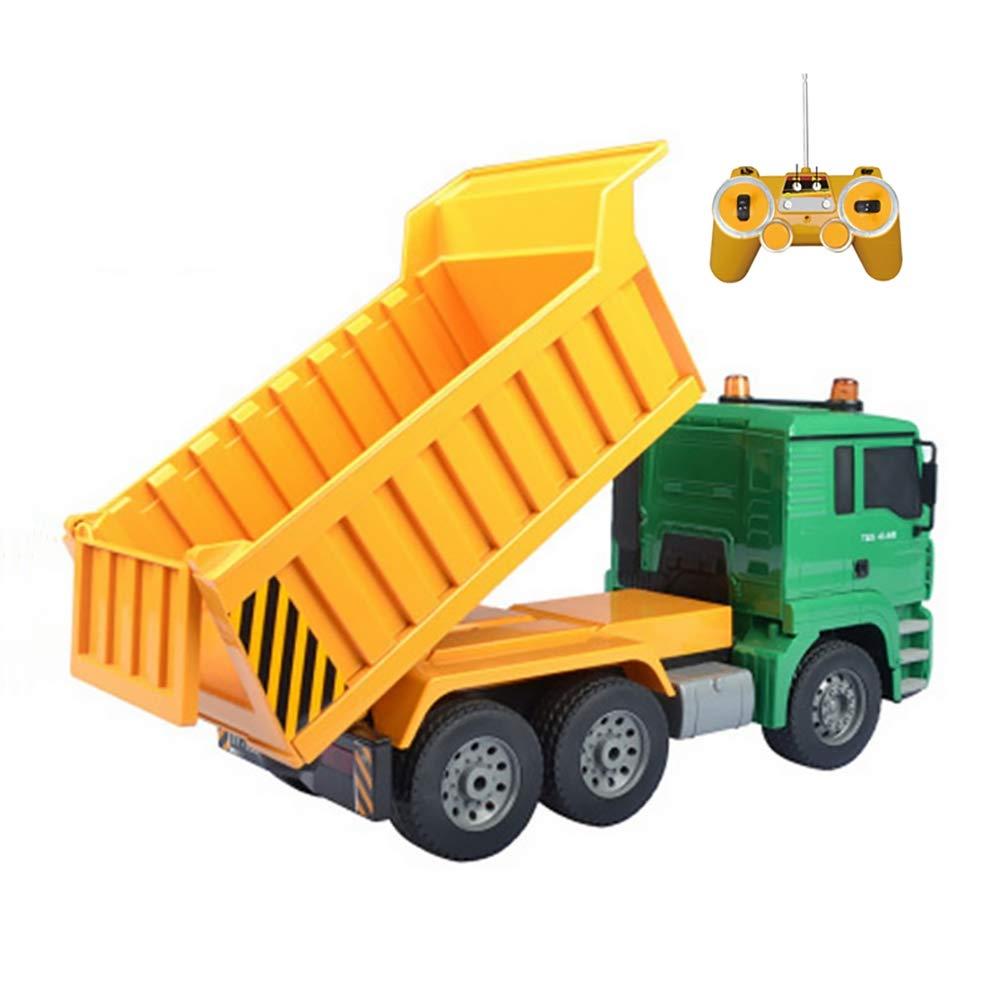 XISHU Junge Spielzeug Fernbedienung BAU Spielzeug Fahrzeuge Hohe Simulation Grosser Truck Wagen ziehen - Ideales Geschenk