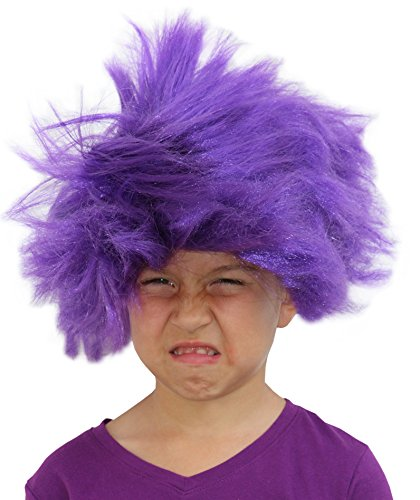 Troll Wig Purple Minion Costume For Kids Or Adults Purple ...