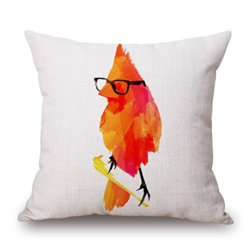 Elliot_yew Fashion Abstract Ink Watercolor Painting Animals Throw Pillow Case Personalized Cushion Cover NEW Home Office Decorative Square 18 X 18 Inches-Glasses Chicken