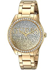 GUESS Womens Stainless Steel Crystal Casual Watch, Color: Gold-Tone (Model: U0987L2)