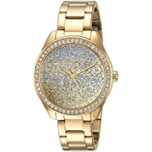 GUESS Women's Stainless Steel Crystal Casual Watch, Color: Gold-Tone (Model: U0987L2)
