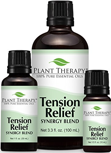 Tension Relief (Headache Relief) Synergy Essential Oil. 100% Pure, Undiluted, Therapeutic Grade.