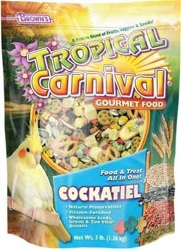F.M. Brown's Tropical Carnival Cockatiel Food, 5-Pound, My Pet Supplies