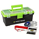 Fishing Single Tray Tackle Box- 55 Piece Tackle Gear Kit Includes Sinkers, Hooks Lures Bobbers Swivels and...