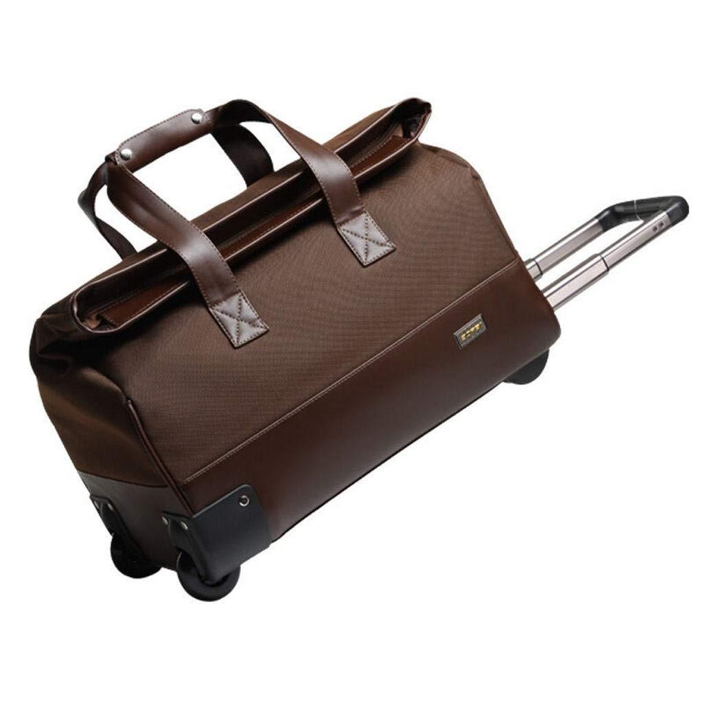 トロリーバッグ(男性用、女性用)ビジネストラベルバッグ、出張用の大きなバッグ、20インチの搭乗バッグ (色 : Brown)  Brown B07L76NGB3