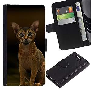 Stuss Case / Funda Carcasa PU de Cuero - Abyssinian Javanese Cat Feline Short - Sony Xperia Z3 Compact