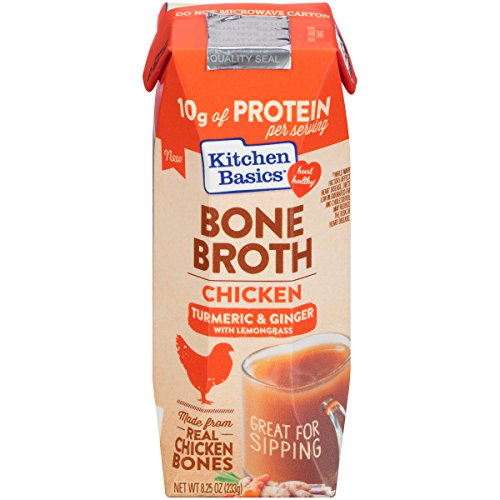 - Kitchen Basics Turmeric & Ginger Chicken Bone Broth, 8.25 Ounce (Pack of 12)