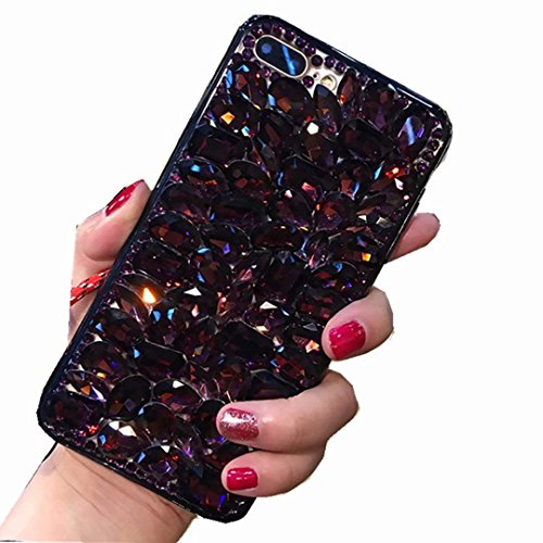 Alcatel Fierce 4 Case,Alcatel Allura Case,Alcatel Pop 4 Plus Full Crystal Diamond Case, 3D Handmade Luxury Sparkle Crystal Rhinestone Diamond Glitter Bling Clear TPU Case (Full/Black)