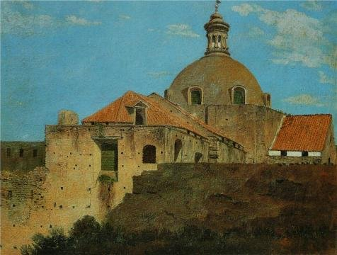 Perfect Effect Canvas ,the Beautiful Art Decorative Prints On Canvas Of Oil Painting 'Thomas Jones - Santa Maria A Cappella Nuova,1782', 18x24 Inch / 46x60 Cm Is Best For Game (Kc Jones Costume)