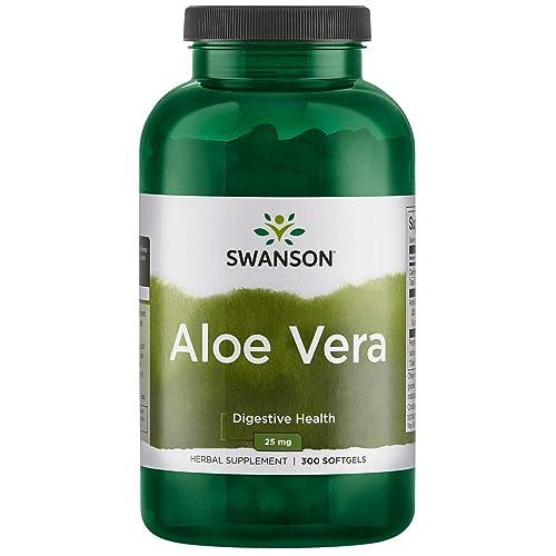 Swanson Aloe Vera 25 Milligrams 300 Sgels