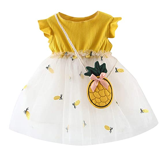 Berimaterry Vestido de niña, Vestido para Bebés Ropa Impresa ...