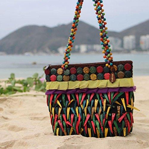 MOXIN Gewebte Tasche - reines handgemachtes Einkaufstasche Strand ?Damebeutel