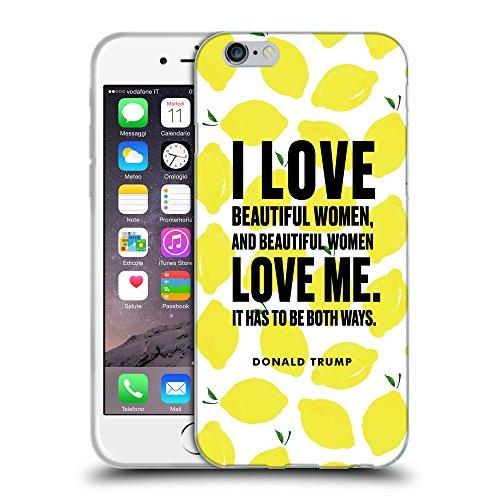 "Super Galaxy Coque de Protection TPU Silicone Case pour // Q04040523 Donald Trump citron // Apple iPhone 6 4.7"""