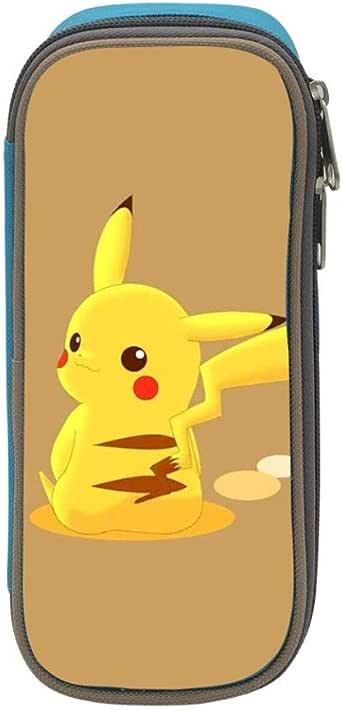 Anime Pokemon Pikachu - Estuche escolar para estudiantes, diseño de Pikachu, azul, ONE_SIZE: Amazon.es: Amazon.es