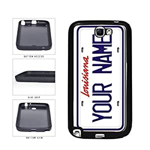 Personalized Custom Louisiana License Plate TPU RUBBER SILICONE Phone Case Back Cover Samsung Galaxy Note II 2 N7100