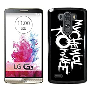 my chemical romance logo Black Fashionable Design LG G3 Plastic Case