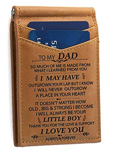 Used, Memory Son to Dad Card Holder Bifold Wallet Gift for for sale  Delivered anywhere in USA