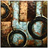 Empire Art Direct ''Revolutions 1'' Mixed Media Hand Painted Iron Wall Sculpture by Primo