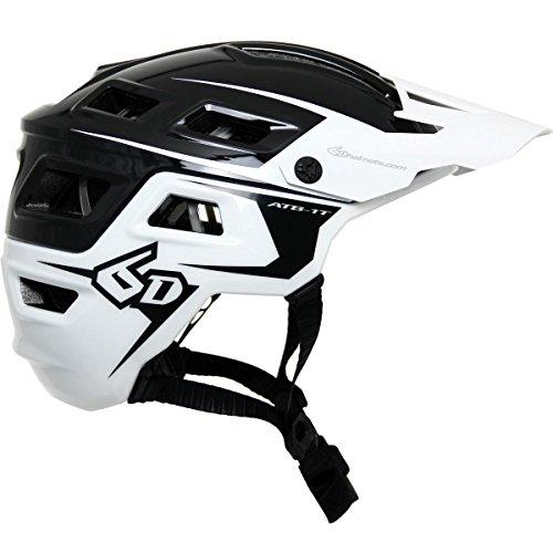 Cheap 6d ATB-1T EVO Trail Bicycle Helmet-Black/White-XS/S
