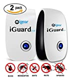 iGear iGuard2.0 Ultrasonic Pest Repeller for Repels Rodent and Insect - Pack of 2 Pest Repellent - Best Pest Control Products for Home Indoor Use!