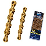 KMC X9L 9 Speed Chain for Trekking 116 Links Light Titanium Nitride Gold Coated Original