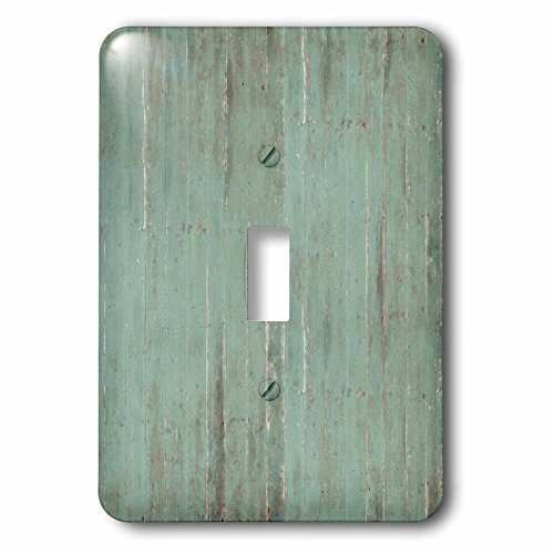 PS Vintage - Rustic Green Wood Look - Light Switch