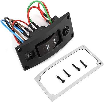 Ebtools Schalttafel Aus Gebogenem Kunststoff Led Wippschalttafel Für Bilgenpumpen Und Leistungsschalter On Off On Deluxe Auto