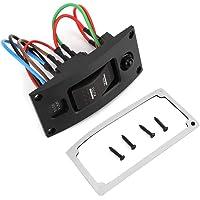 EBTOOLS gebogen kunststof schakelpaneel, ON-OFF-ON Deluxe LED Rocker Bilge Pomp Schakelpaneel & Circuit Breaker