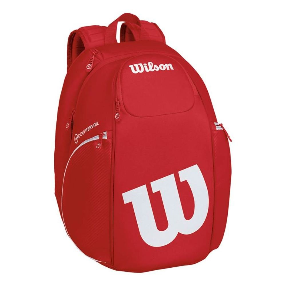 Wilson Pro Staff Tennis Backpack, Red/White by Wilson