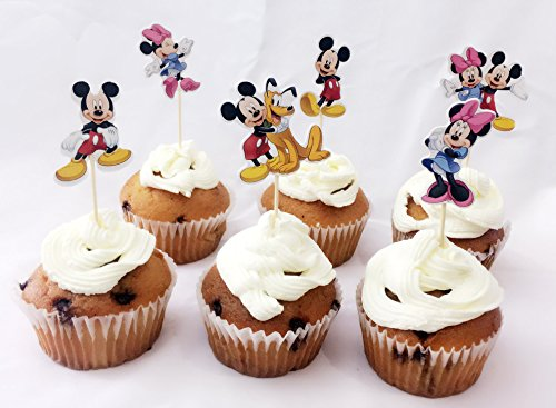 Micky Mouse Cake Cupcake Decorative Cupcake Picks Cake Toppers Cupcake Toppers Birthday Party Supplies (Micky (Micky Mouse Cake)