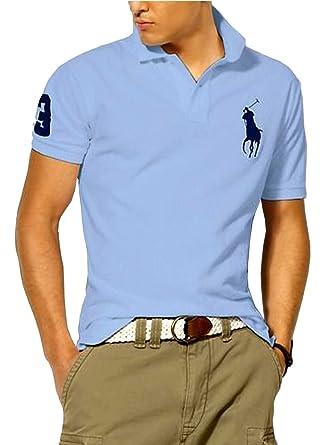 53c5fdbd5d3c POLO RALPH LAUREN Herren Poloshirt Custom Fit Big Pony (XX-Large, hellblau)