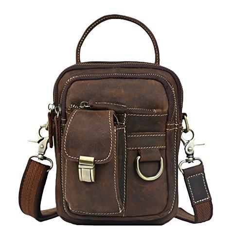 Coffee Shoulder Bag Insun Crazy Leather Men's Horse XRIzWYU