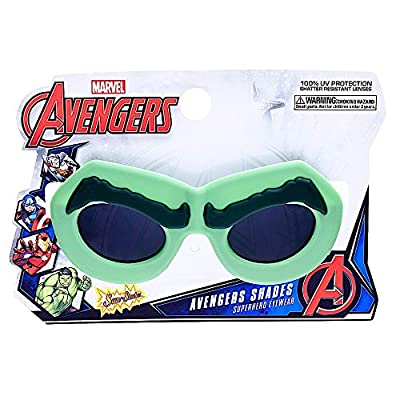 Sun-Staches Costume Sunglasses Marvel Lil' Characters Hulk Party Favors UV400: Toys & Games