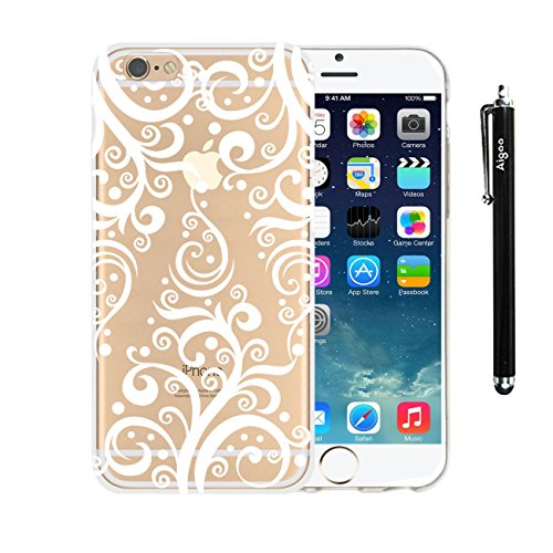 """AiGoo Plastic Case Cover for for Apple Iphone6 ¨4.7"""" Classical Relief Crafts White Cute Dancing Christmas Reindeer Pattern Floral Paisley Flower Mandala For Iphone 6 ¨4.7"""""""