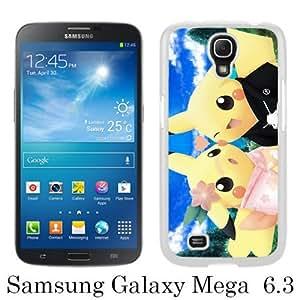 Beautiful Classic Pokemon Popular Cute and Funny Pikachu White Case For Samsung Galaxy Mega 6.3 i9200 i9205