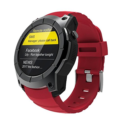 - Window-pick S958 Smart Watch 2G SIM Card Compatible with Android IOS Phones,Sports Watch Waterproof Heart Rate Monitor GPS+BeiDou+AGPS MTK2503(128MB+32MB) Red