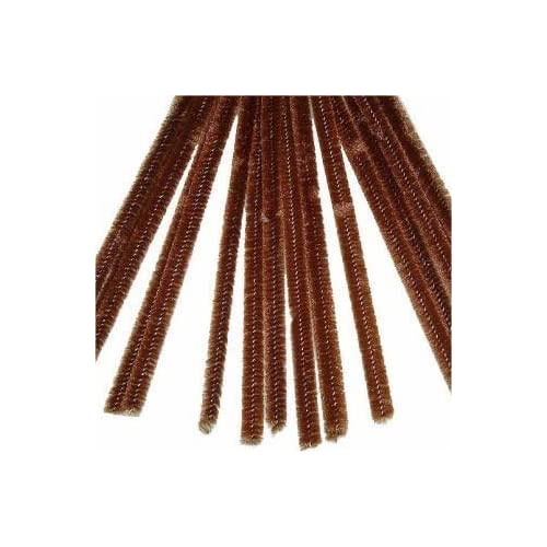 "100 Brown Chenille Stems (12"" x 6mm)"