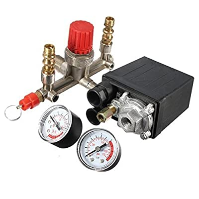 Air Compressor Pressure Pump Control Switch Heavy Duty + Valve Gauges Regulator