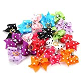 Pet Hair Bows, Cute Multicolor Rubber Bands Grooming Hair Accessories for Dog Cat Puppy(20 pcs)