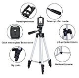 50 Inch Tripod for iPhone, Lightweight Aluminum Tripod for Phone with Universal Phone Tripod Mount and Carrying Bag