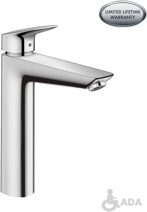Hansgrohe Logis Modern 1 Handle 10 Inch Tall Bathroom Sink Faucet