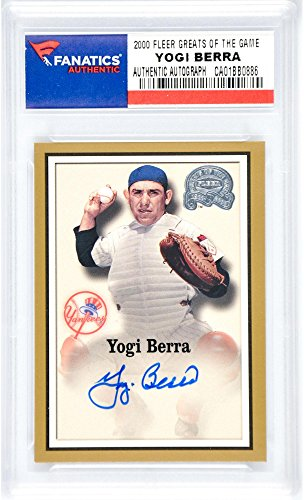 Yogi Berra New York Yankees Autographed 2000 Fleer Greats of the Game Insert Card - Steiner Sports Certified