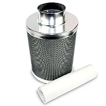 """VenTech VT CF-4 Carbon Charcoal Odor Control Filter, 210 CFM, 4"""" x 12"""""""