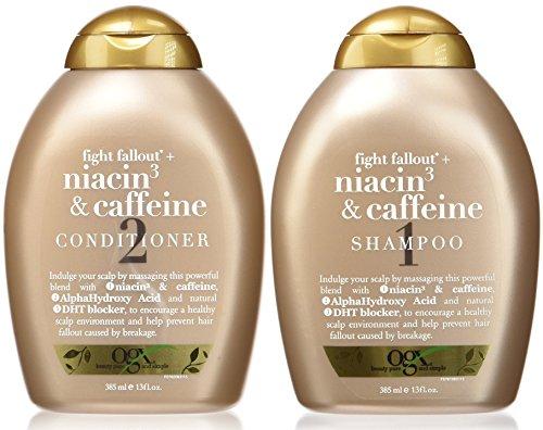 Organix Fight Fallout Plus  Niacin   Caffeine  Duo Set Shampoo   Conditioner  13 Oz Each