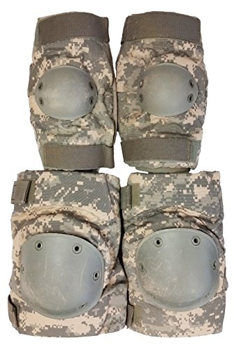 Acu Elbow Pads - Military Outdoor Clothing 1053-O Previously Issued U.S. G.I. ACU Knee and Elbow Pad Set (Old Style)